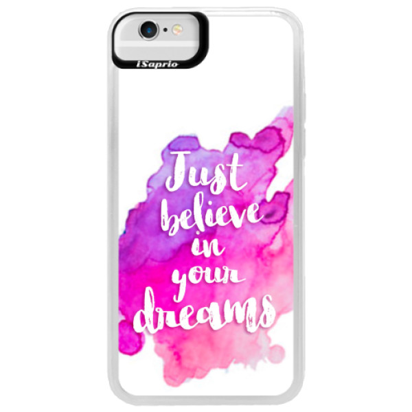 Neonové pouzdro Blue iSaprio - Believe - iPhone 6/6S