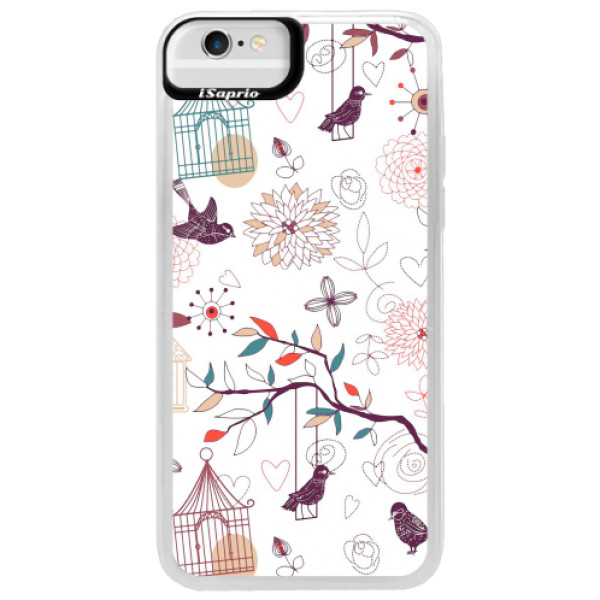 Neonové pouzdro Blue iSaprio - Birds - iPhone 6/6S