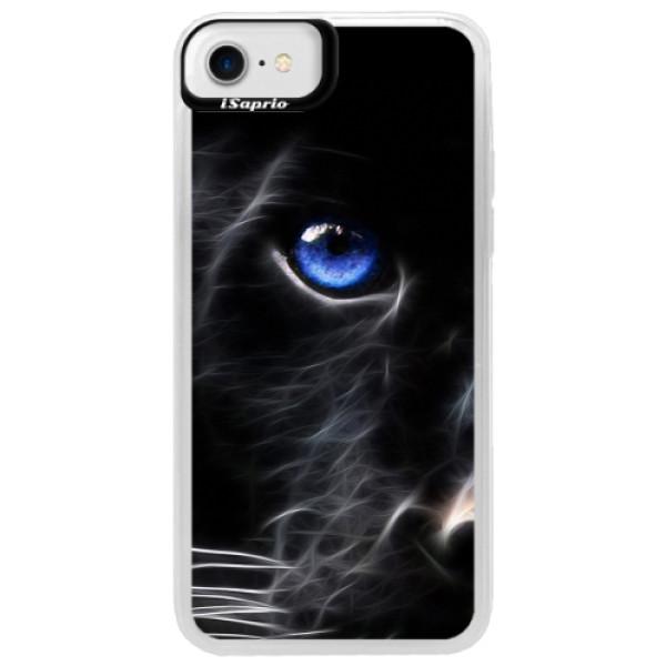 Neonové pouzdro Blue iSaprio - Black Puma - iPhone 7