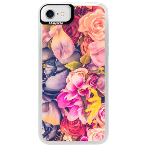 Neonové pouzdro Blue iSaprio - Beauty Flowers - iPhone 7