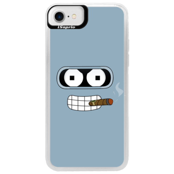 Neonové pouzdro Blue iSaprio - Bender - iPhone 7