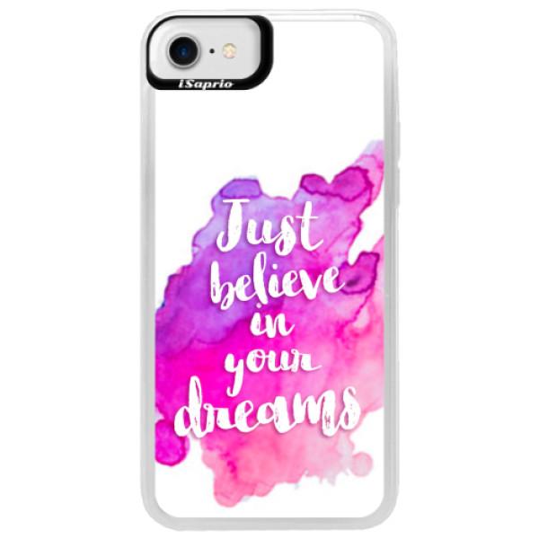 Neonové pouzdro Blue iSaprio - Believe - iPhone 7