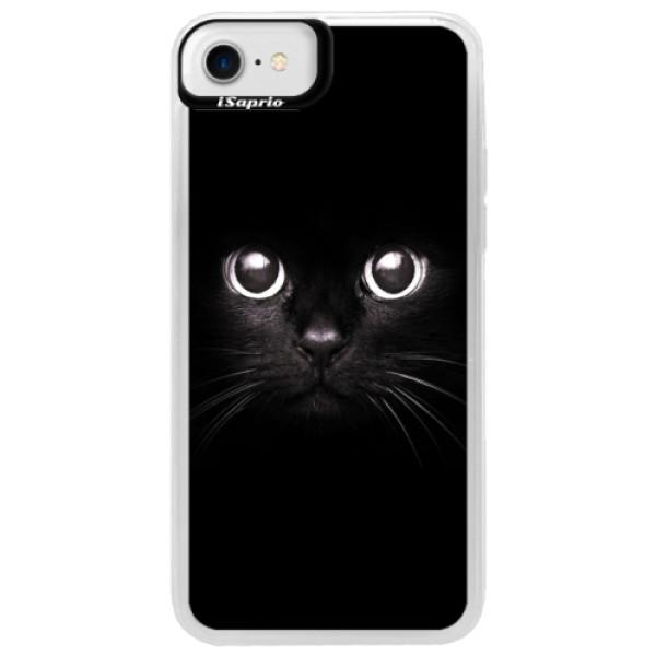 Neonové pouzdro Blue iSaprio - Black Cat - iPhone 7