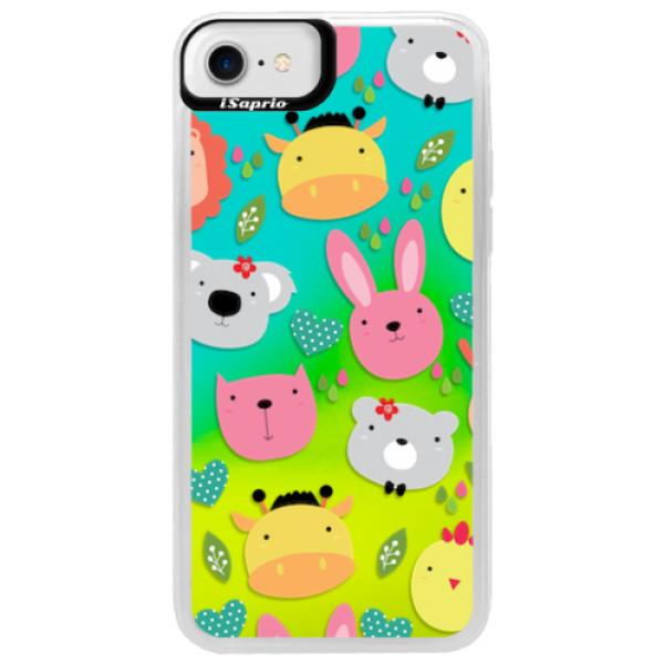 Neonové pouzdro Blue iSaprio - Animals 01 - iPhone 7