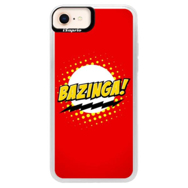 Neonové pouzdro Pink iSaprio - Bazinga 01 - iPhone 8