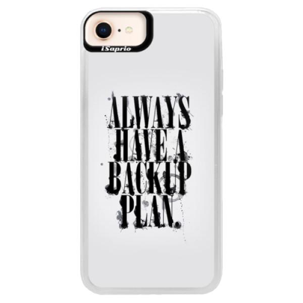 Neonové pouzdro Pink iSaprio - Backup Plan - iPhone 8