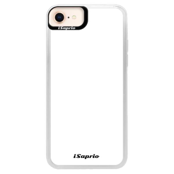 Neonové pouzdro Pink iSaprio - 4Pure - bílý - iPhone 8