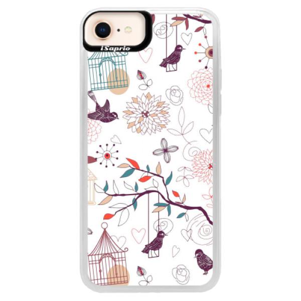 Neonové pouzdro Pink iSaprio - Birds - iPhone 8