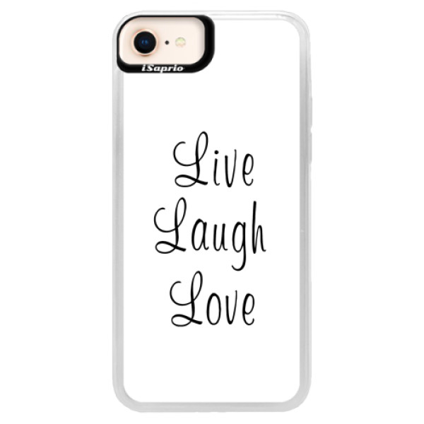Neonové pouzdro Pink iSaprio - Live Laugh Love - iPhone 8