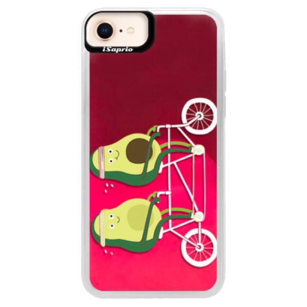 Neonové pouzdro Pink iSaprio - Avocado - iPhone 8