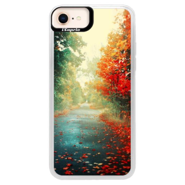 Neonové pouzdro Blue iSaprio - Autumn 03 - iPhone 8
