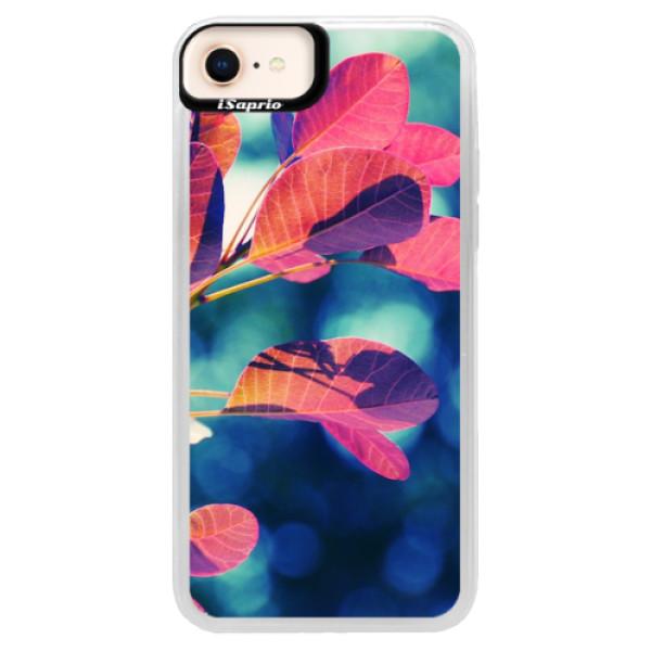 Neonové pouzdro Blue iSaprio - Autumn 01 - iPhone 8