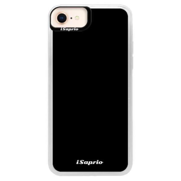 Neonové pouzdro Blue iSaprio - 4Pure - černý - iPhone 8