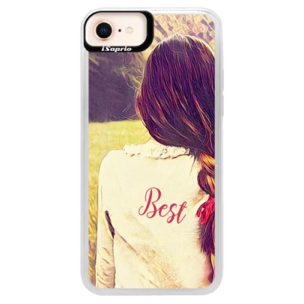 Neonové pouzdro Blue iSaprio - BF Best - iPhone 8
