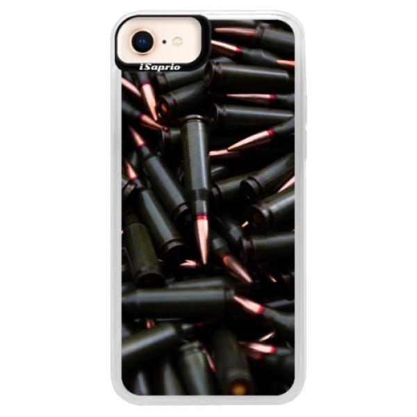 Neonové pouzdro Blue iSaprio - Black Bullet - iPhone 8