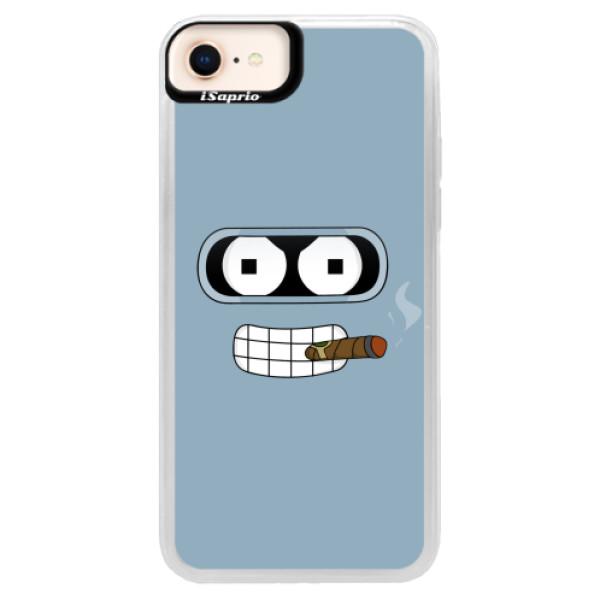 Neonové pouzdro Blue iSaprio - Bender - iPhone 8