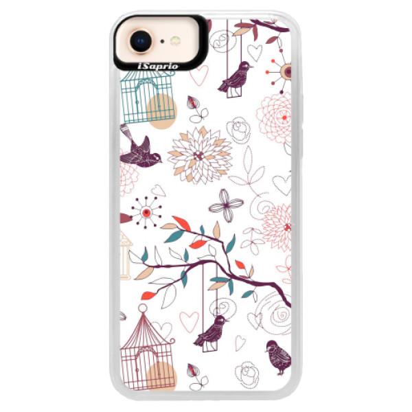 Neonové pouzdro Blue iSaprio - Birds - iPhone 8