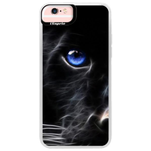 Neonové pouzdro Pink iSaprio - Black Puma - iPhone 6 Plus/6S Plus