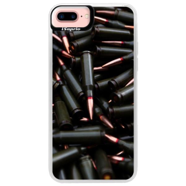 Neonové pouzdro Pink iSaprio - Black Bullet - iPhone 7 Plus