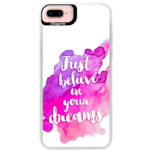 Neonové pouzdro Pink iSaprio - Believe - iPhone 7 Plus