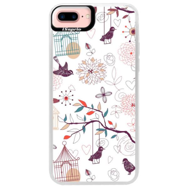 Neonové pouzdro Pink iSaprio - Birds - iPhone 7 Plus