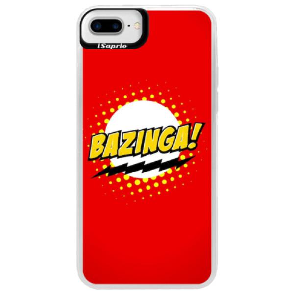 Neonové pouzdro Blue iSaprio - Bazinga 01 - iPhone 7 Plus