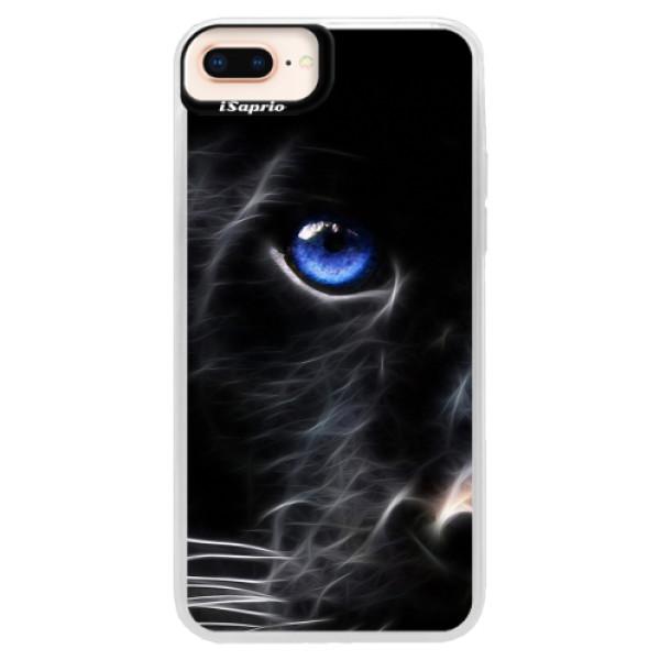 Neonové pouzdro Pink iSaprio - Black Puma - iPhone 8 Plus