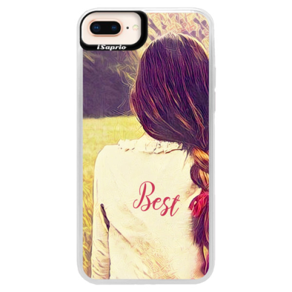 Neonové pouzdro Pink iSaprio - BF Best - iPhone 8 Plus