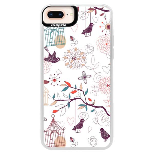 Neonové pouzdro Pink iSaprio - Birds - iPhone 8 Plus