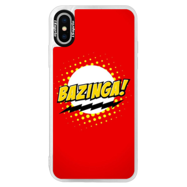 Neonové pouzdro Pink iSaprio - Bazinga 01 - iPhone X