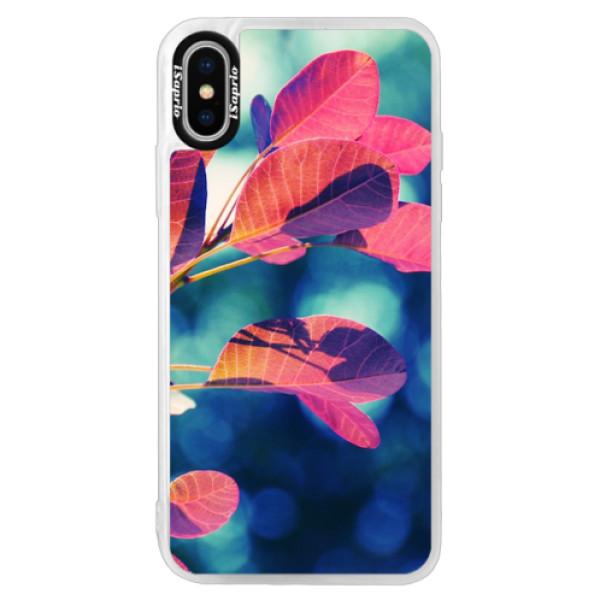 Neonové pouzdro Pink iSaprio - Autumn 01 - iPhone X