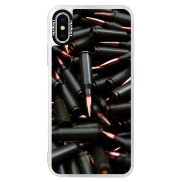 Neonové pouzdro Pink iSaprio - Black Bullet - iPhone X