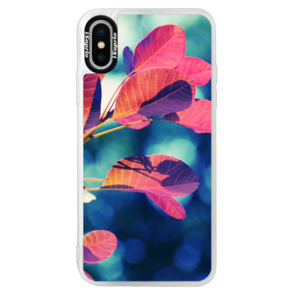 Neonové pouzdro Blue iSaprio - Autumn 01 - iPhone X
