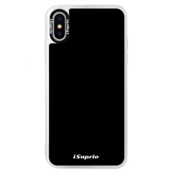 Neonové pouzdro Blue iSaprio - 4Pure - černý - iPhone X