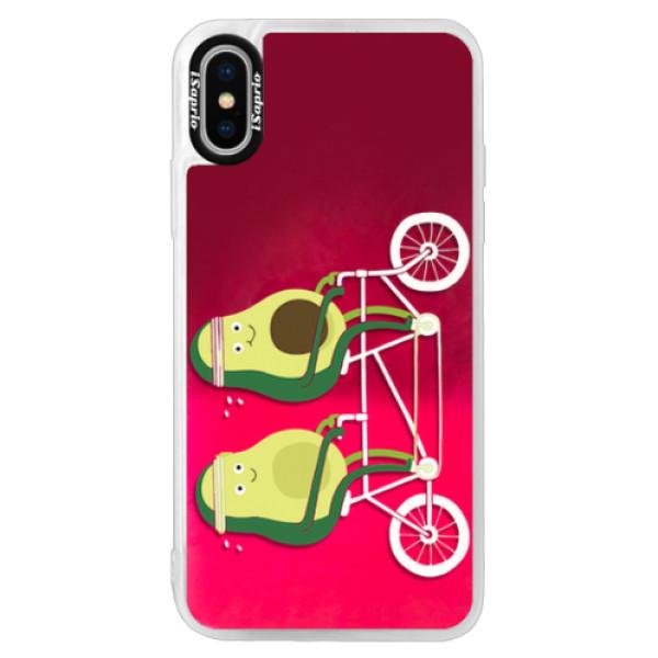 Neonové pouzdro Pink iSaprio - Avocado - iPhone XS