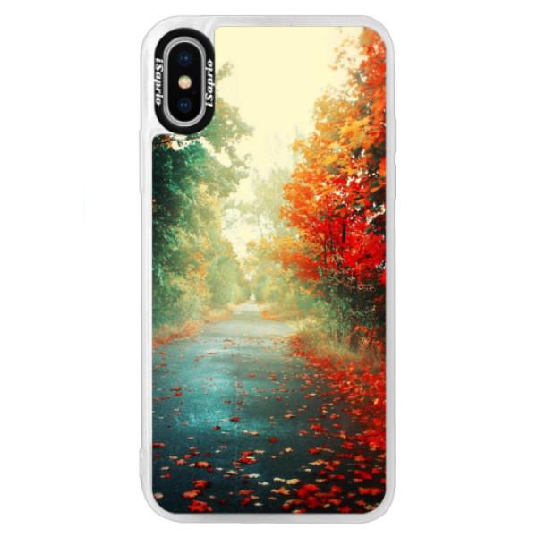 Neonové pouzdro Blue iSaprio - Autumn 03 - iPhone XS