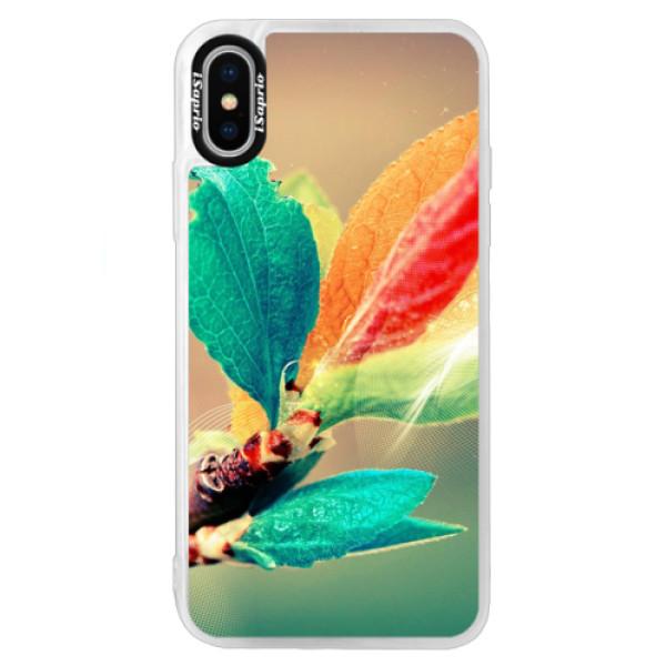 Neonové pouzdro Blue iSaprio - Autumn 02 - iPhone XS