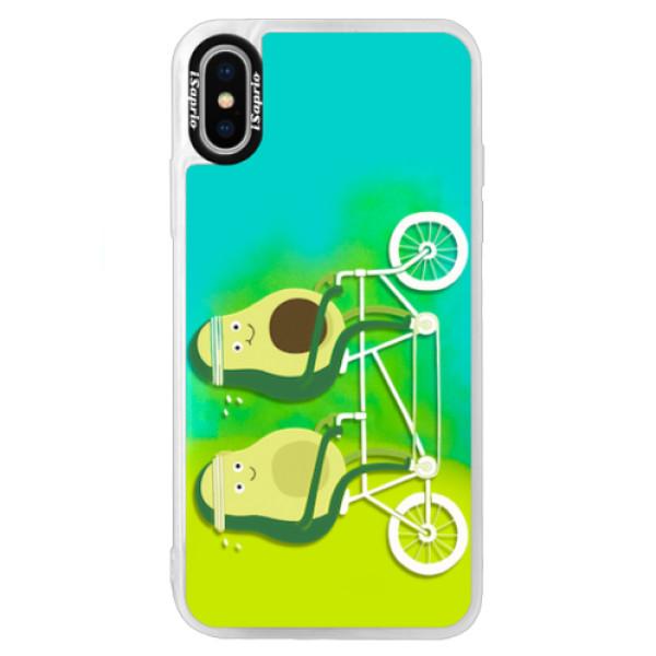 Neonové pouzdro Blue iSaprio - Avocado - iPhone XS