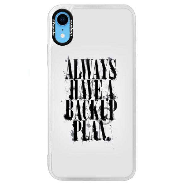 Neonové pouzdro Blue iSaprio - Backup Plan - iPhone XR