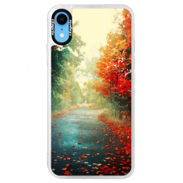 Neonové pouzdro Blue iSaprio - Autumn 03 - iPhone XR