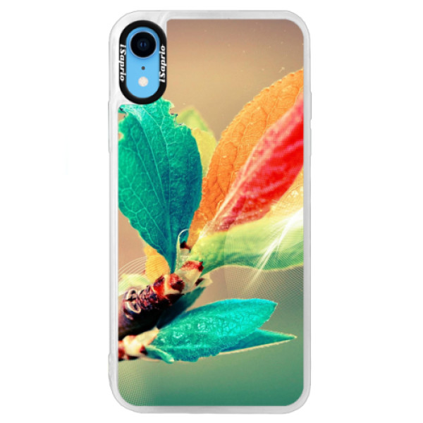 Neonové pouzdro Blue iSaprio - Autumn 02 - iPhone XR