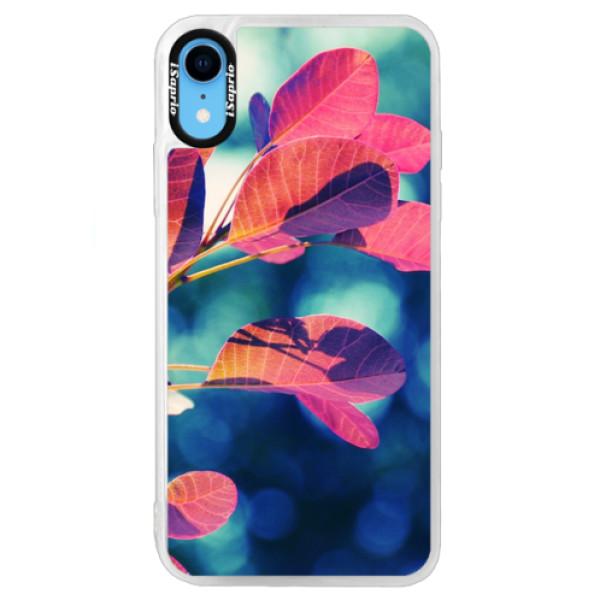 Neonové pouzdro Blue iSaprio - Autumn 01 - iPhone XR