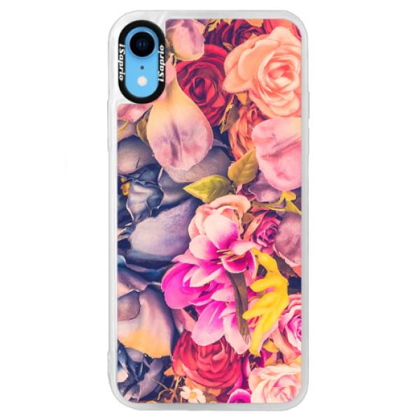 Neonové pouzdro Blue iSaprio - Beauty Flowers - iPhone XR