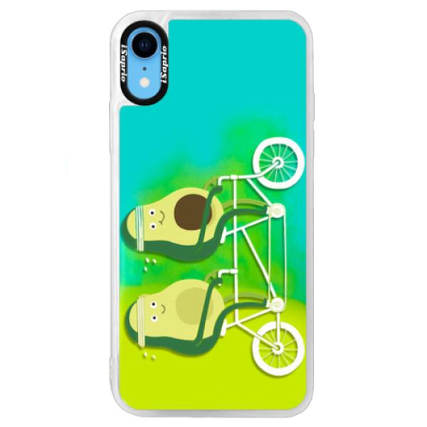 Neonové pouzdro Blue iSaprio - Avocado - iPhone XR