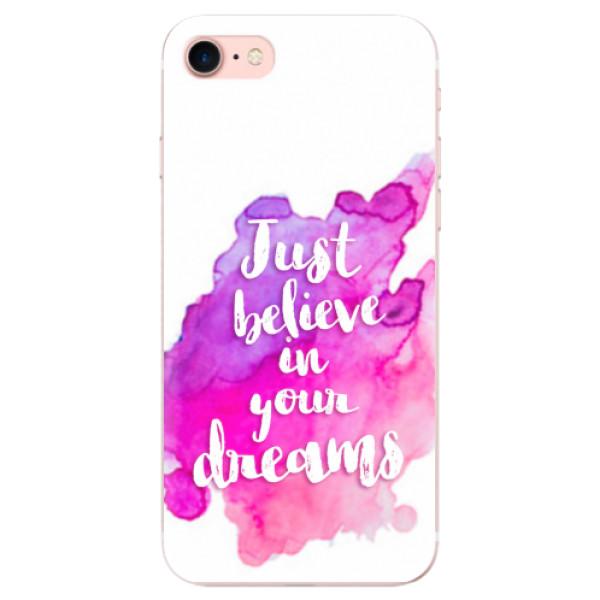 Odolné silikonové pouzdro iSaprio - Believe - iPhone 7