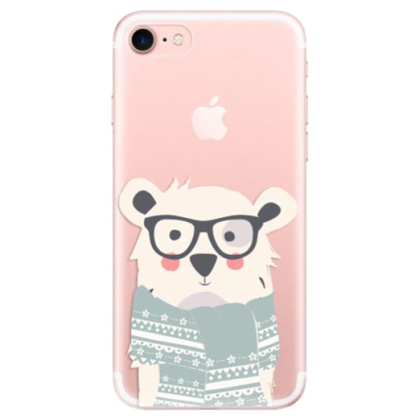Odolné silikonové pouzdro iSaprio - Bear with Scarf - iPhone 7
