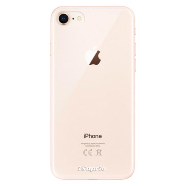 Odolné silikonové pouzdro iSaprio - 4Pure - mléčný bez potisku - iPhone 8