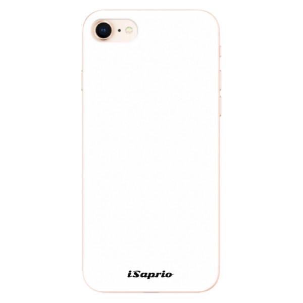 Odolné silikonové pouzdro iSaprio - 4Pure - bílý - iPhone 8