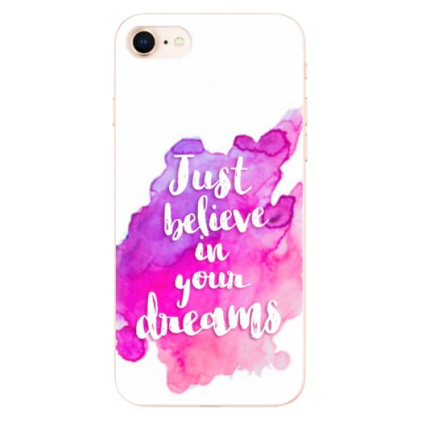 Odolné silikonové pouzdro iSaprio - Believe - iPhone 8