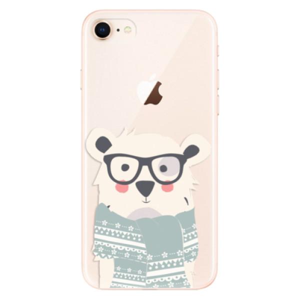 Odolné silikonové pouzdro iSaprio - Bear with Scarf - iPhone 8